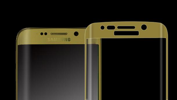 三星S6edge 土豪金全屏曲面钢化玻璃保护膜