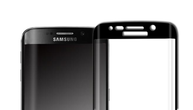 三星S6edge 黑色全屏曲面钢化玻璃保护膜